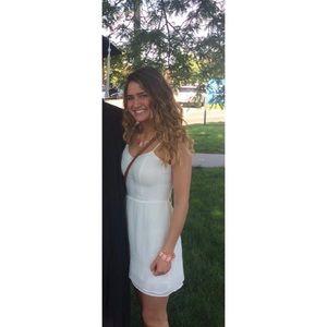 Candie's white cutout back mini dress size 0
